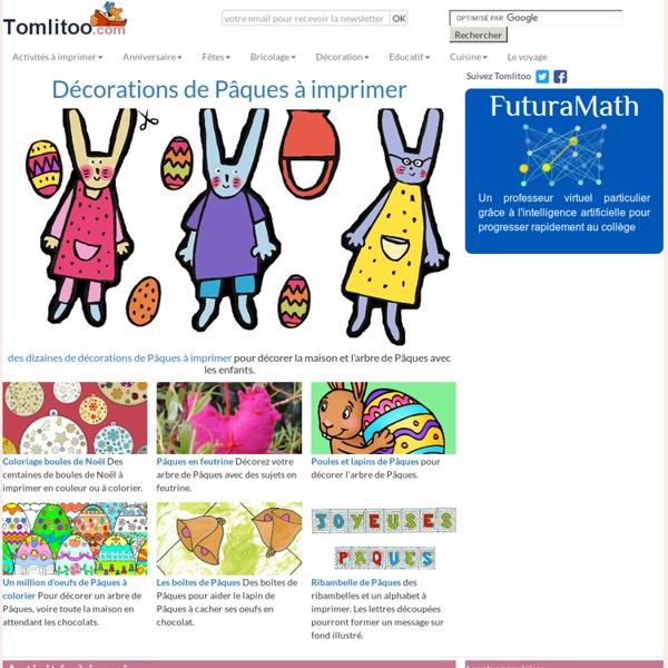 Coloriages,jeux,bricolages,decorations pour les enfants:Tomlitoo