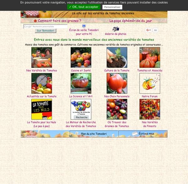 Le site sur les variétés anciennes de tomates.