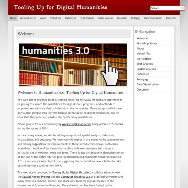 Tooling Up for Digital Humanities