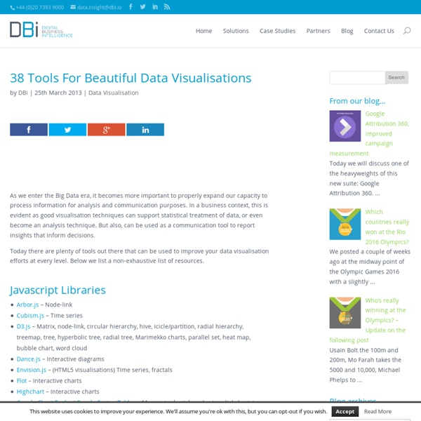 38 Tools For Beautiful Data Visualisations