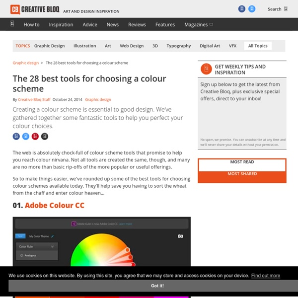 The 28 best tools for choosing a colour scheme