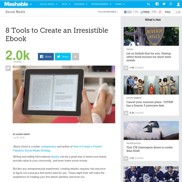 8 Tools to Create an Irresistible Ebook