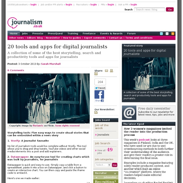 20 tools and apps for digital journalists