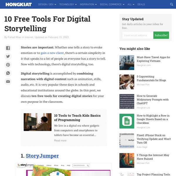 9 Free Tools For Digital Storytelling