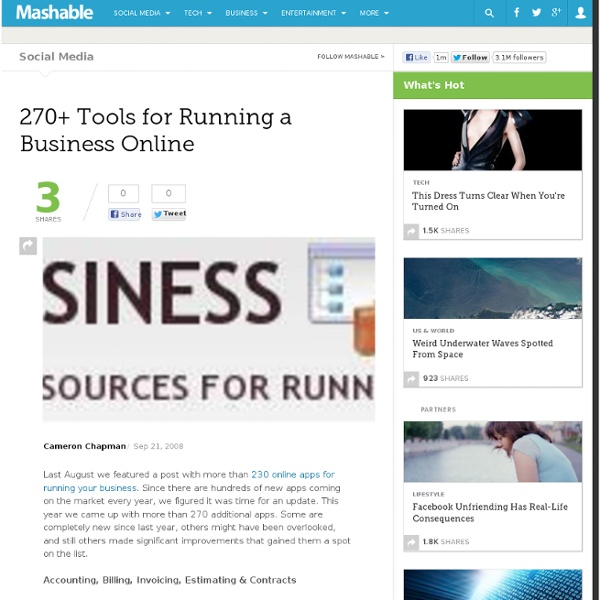 270+ Tools for Running a Business Online