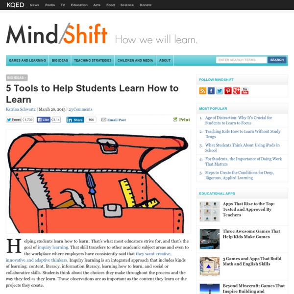 5 Tools to Help Students Learn How to Learn