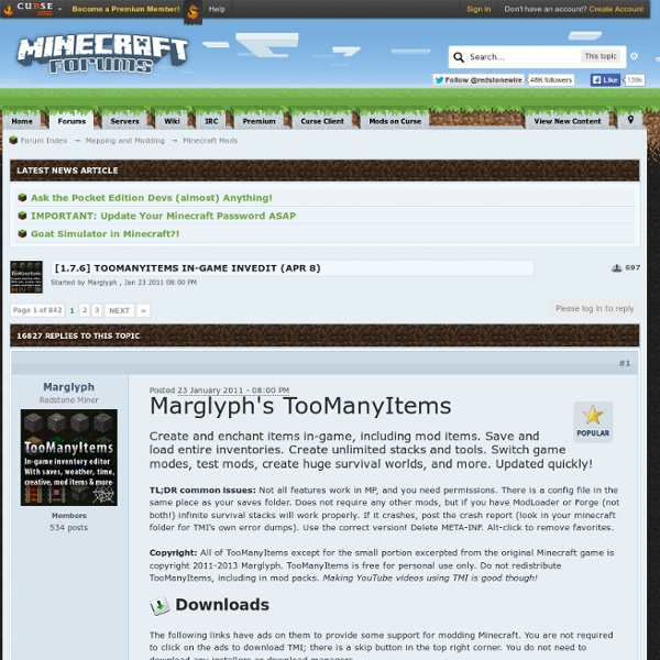 7.3] TooManyItems in-game invedit *July 1*
