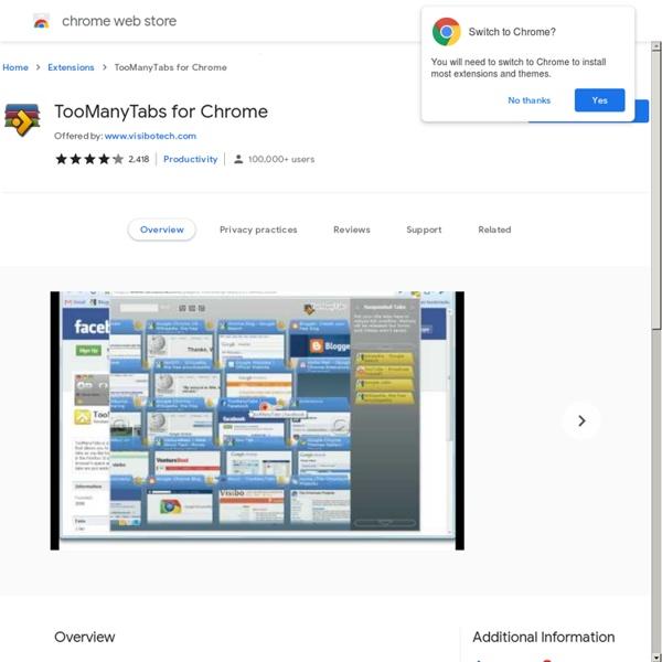 TooManyTabs for Chrome