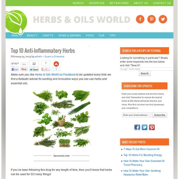 Top 10 Anti-Inflammatory Herbs