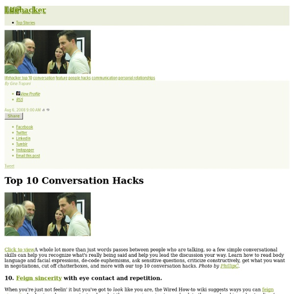 Top 10 Conversation Hacks