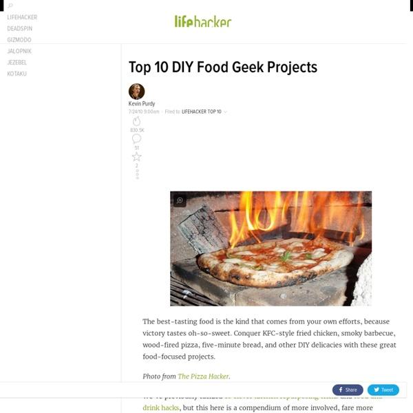 Top 10 DIY Food Geek Projects