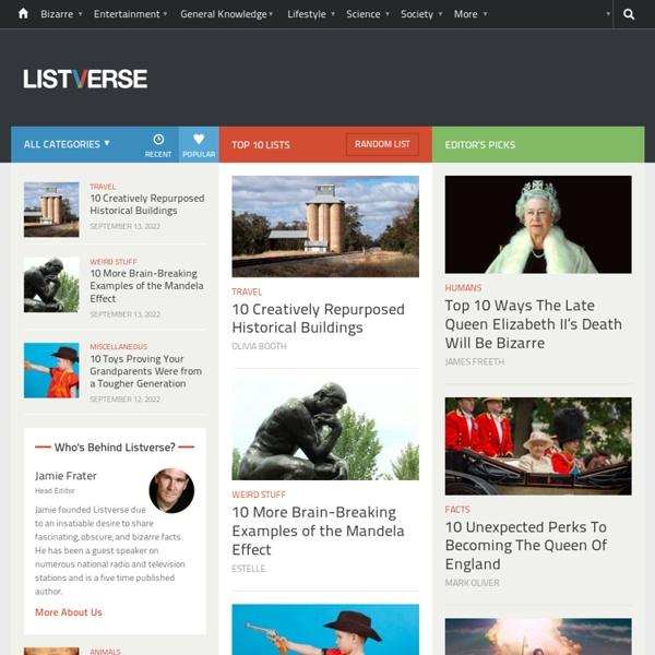 Top 10 Lists - Listverse