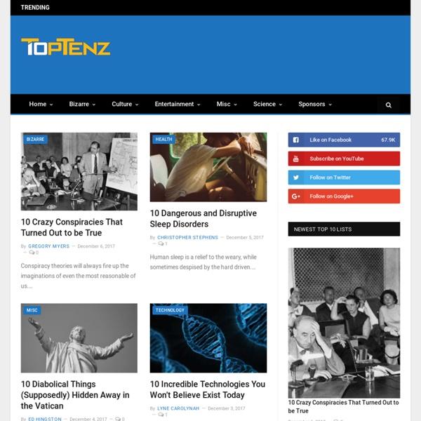 Top 10 Lists : Toptenz.net