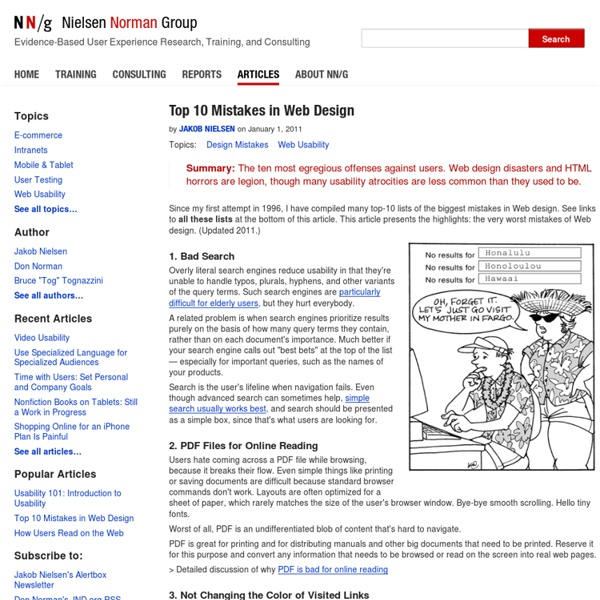 Top 10 Mistakes in Web Design