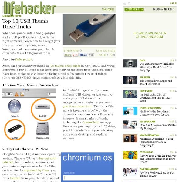 Top 10 USB Thumb Drive Tricks