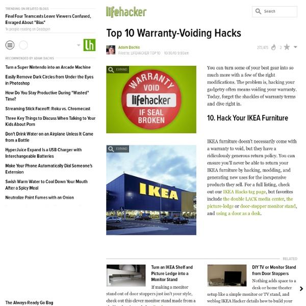 Top 10 Warranty-Voiding Hacks