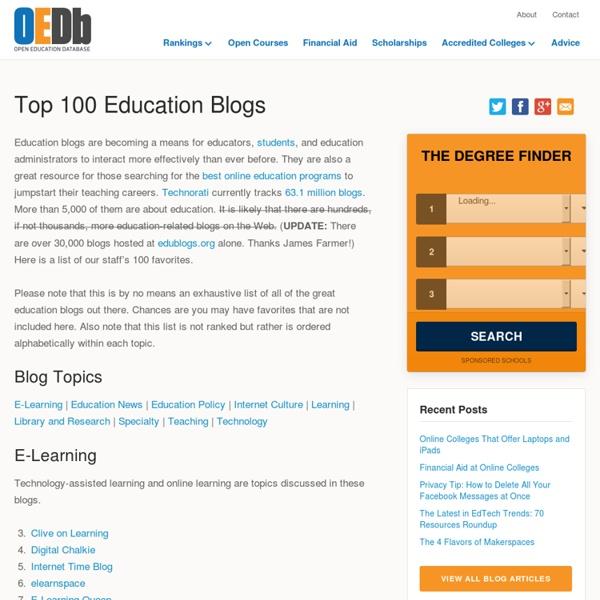 Top 100 Education Blogs