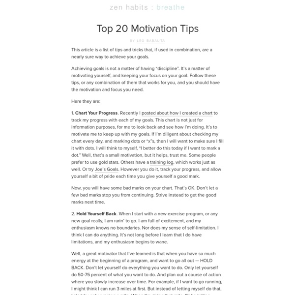 » Top 20 Motivation Hacks – An Overview