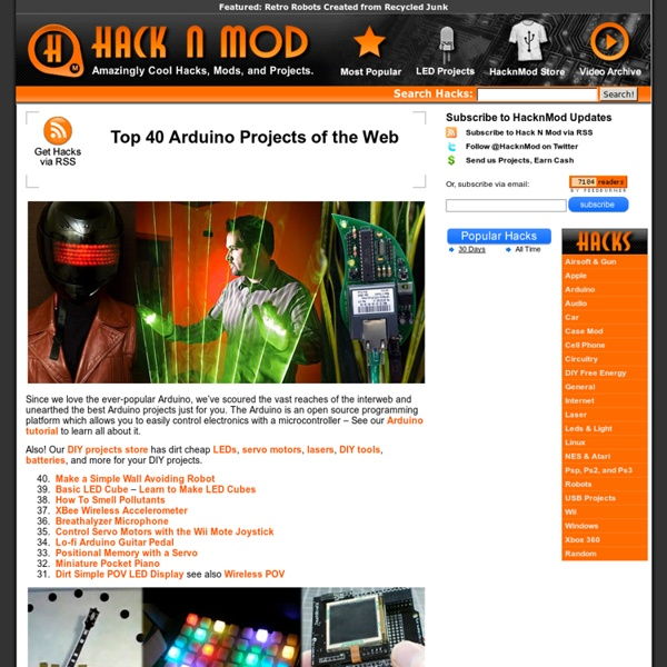 Top 40 Arduino Projects of the Web