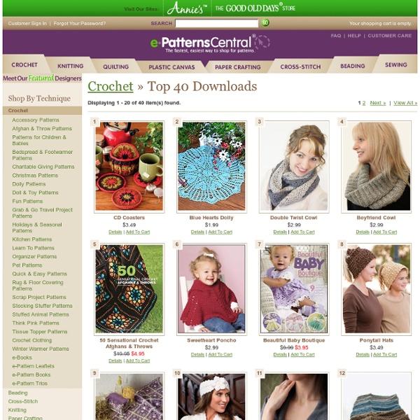 Top 40 Crochet Downloads