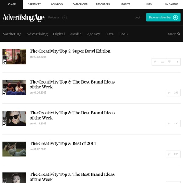 Top 5 Most Creative Ads - Features