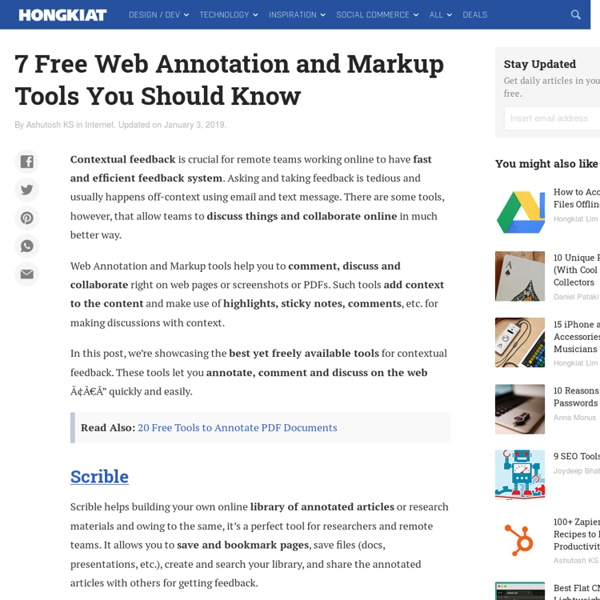 Top Web Annotation and Markup Tools