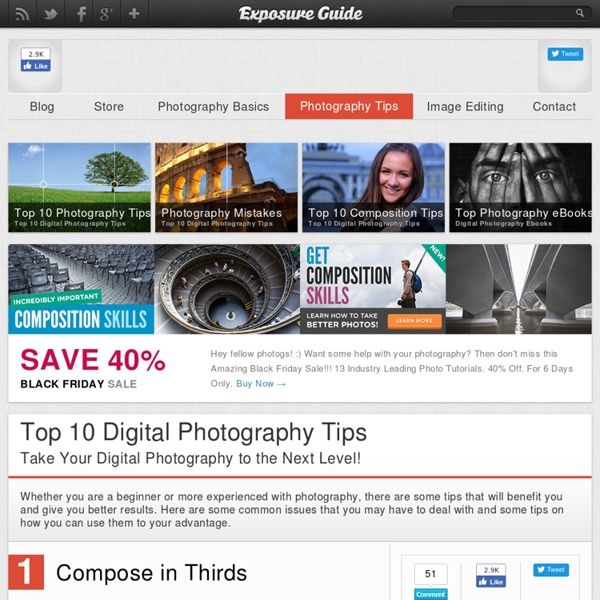 Top 10 Digital Photography Tips