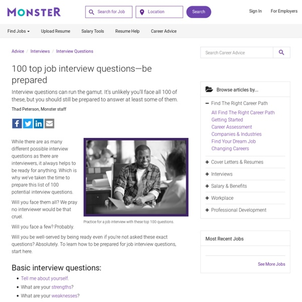 Interview Questions: 100 Potential Interview Questions