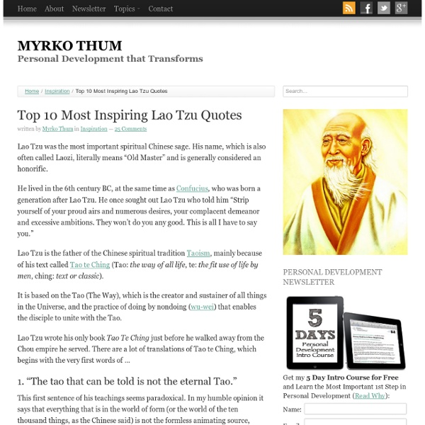 Top 10 Most Inspiring Quotes of Lao Tzu