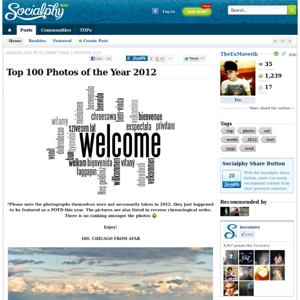 Top 100 Photos of the Year 2012
