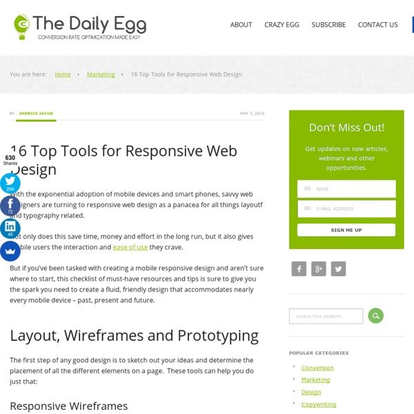 16 Top Tools for Responsive Web Design