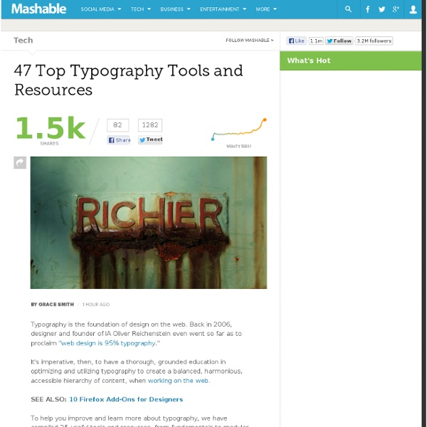 47 Top Typography Tools and Resources