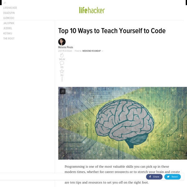 Top 10 Ways to Teach Yourself to Code