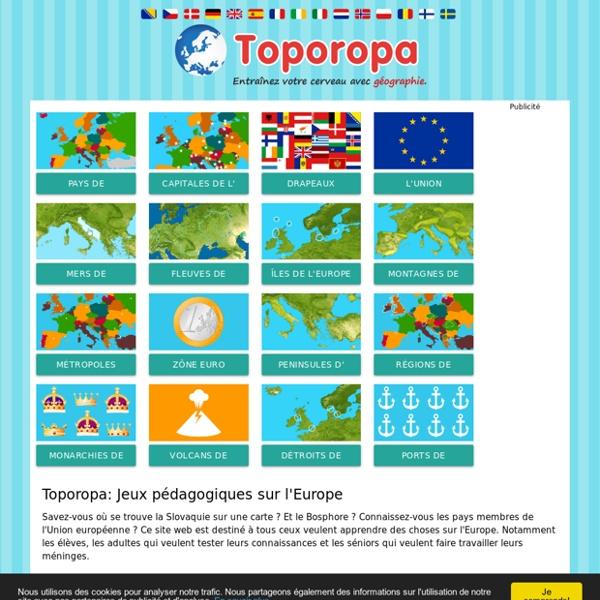 Toporopa Géographie Quiz: Géographie de l'Europe