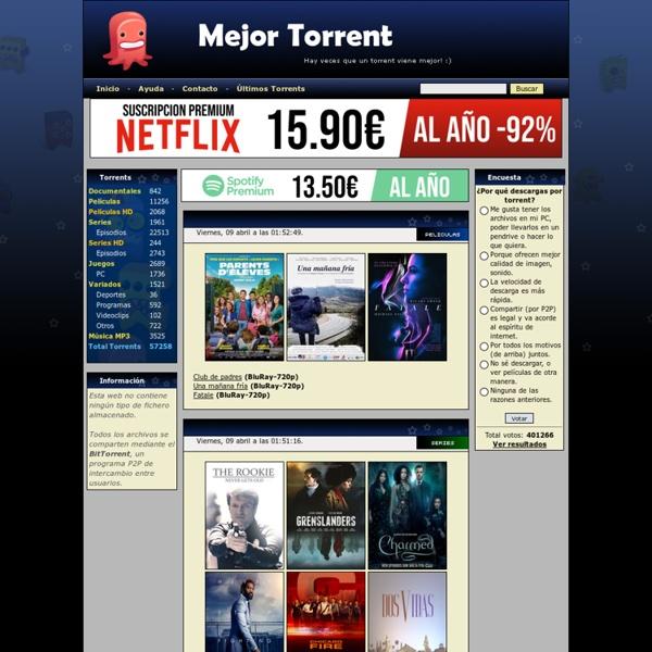 Mejor Torrent: La mejor web de torrents
