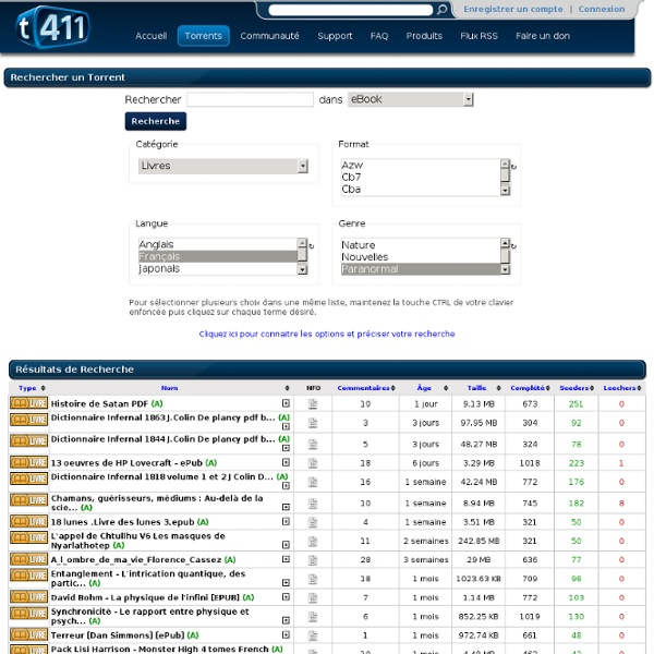 torrent 411 tracker torrent fran ais pearltrees