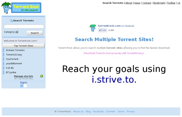 Search all torrent sites at once for the fastest download! TorrentRoot.com
