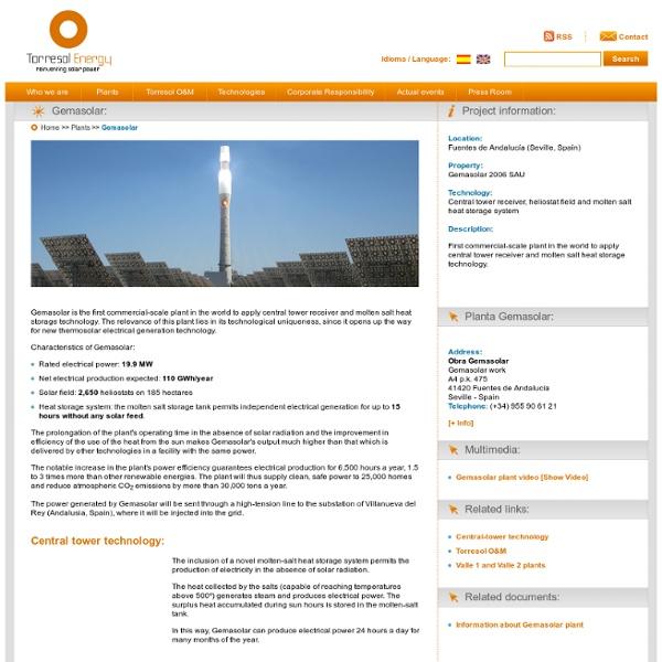 Torresol Energy - Gemasolar thermosolar plant