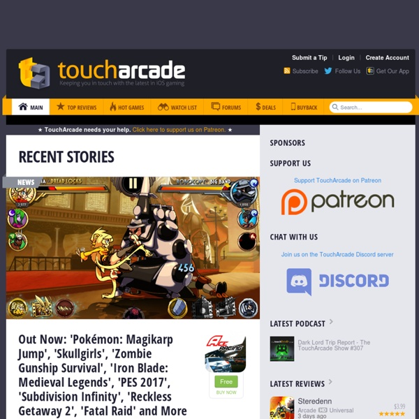 Touch Arcade: iPhone Game Reviews and News