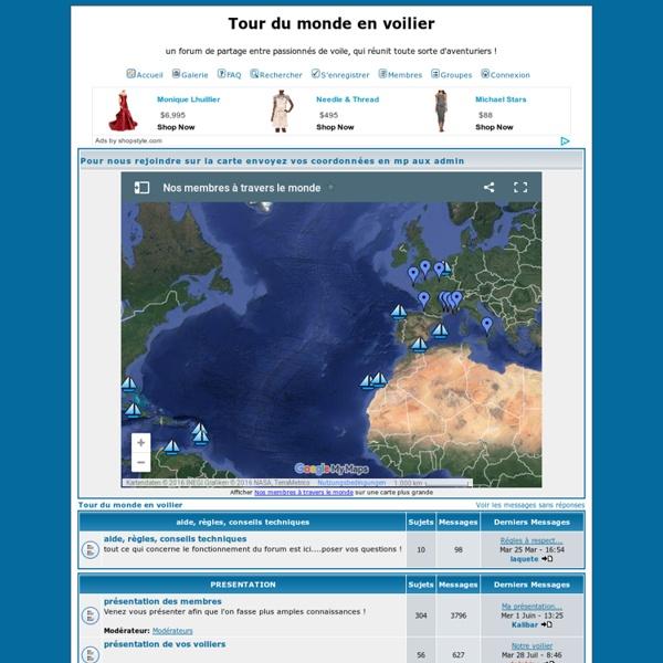 Tour du monde en voilier