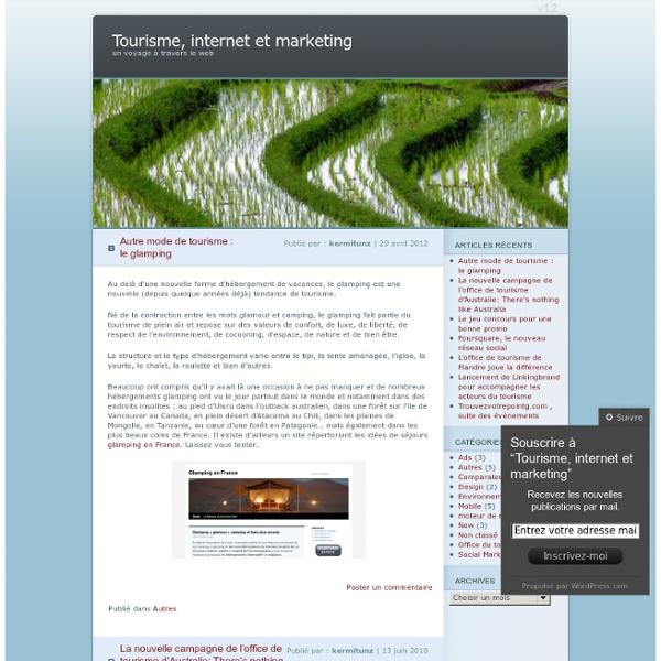 Tourisme, internet et marketing