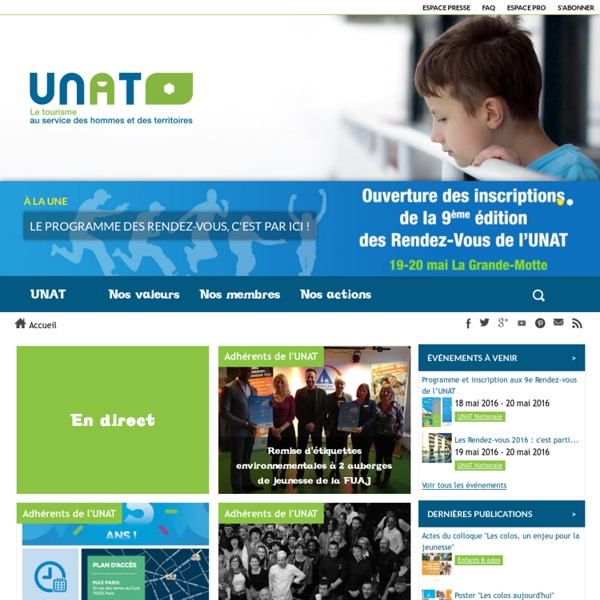 Unat - - - Union Nationale des Associations de Tourisme
