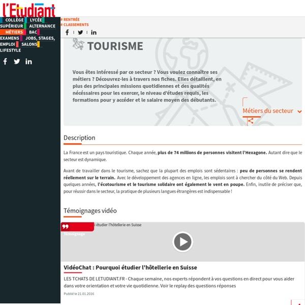Les métiers du tourisme : travailler dans le secteur du tourisme