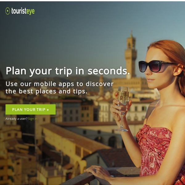 Plan your getaways and trips with our web and mobile apps