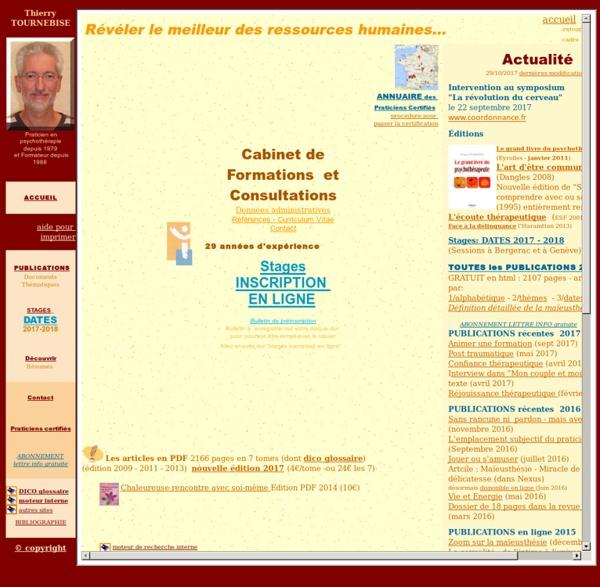 TOURNEBISE Thierry - Cabinet de Formation et Consultation