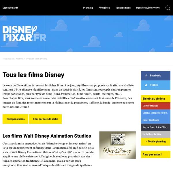 Tous les films Disney / DisneyPixar.fr