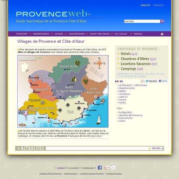 Tous les villages de Provence et Côte d'Azur