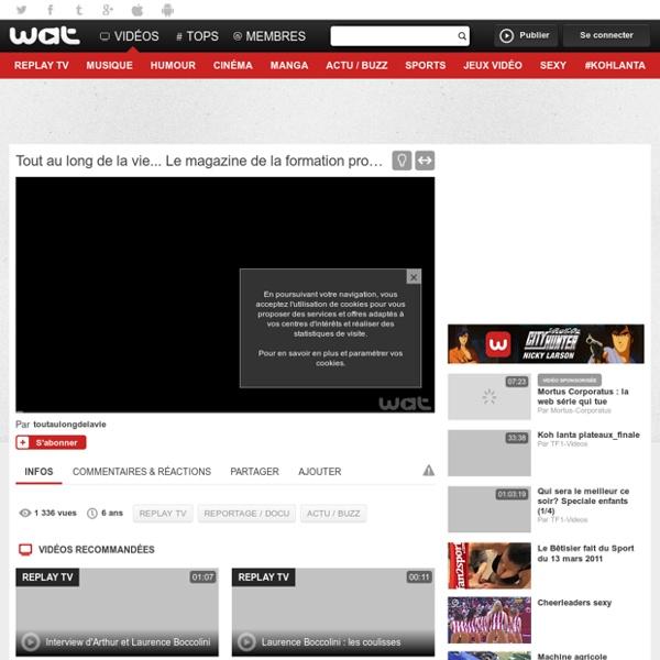 02/ Vidéo Le magazine de la formation professionnelle continue