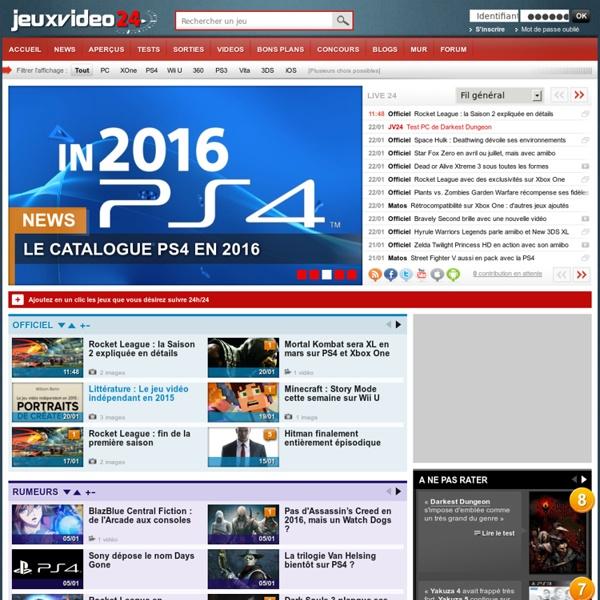 Toute l'actualité jeux vidéo 24h/24