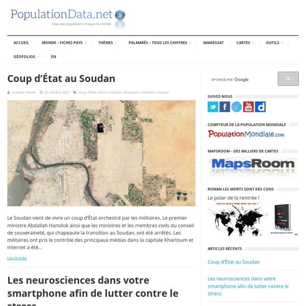 PopulationData.net : Toutes les populations du monde